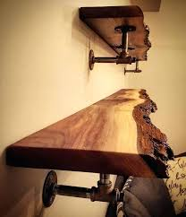 likes comments on dual live edge shelves we made for a area raw wood shelf floating raw edge