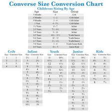 Converse Size Chart Men Converse Size Chart Blvdcustom