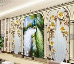 3d Kamer Behang Custom Non Woven Foto Muurschilderingen Pauw Rome