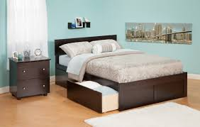 platform bed frame king with cabinets underneath drawers storage