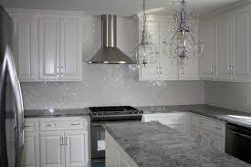 White Kitchen With Granite Countertops White Kitchen Cabinets Gray Granite Countertops