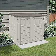 4 suncast horizontal outisde storage shed comp