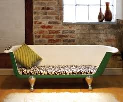 Another great idea of a bathtub couch! Anyone remember the bathtub couch in  Breakfast at Tiffany's?