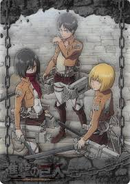 I mean like armin has shown quite interests in krista. Attack On Titan Trading Card Atw I 11 Metallic Foil Wafer Choco Eren Cherden S Doujinshi Shop