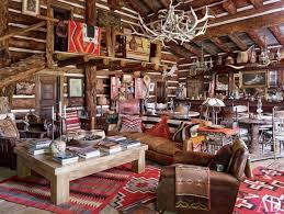 western living room furniture decorating. Rustic Western Living Room Decor With Natural Wood Furniture Decorating R