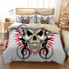 fanaijia multicolour 3d printed skull bedding set king size sugar skull print duvet cover set with