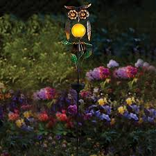 decorative landscape lighting. image of owl solar garden stake decorative landscape lighting n
