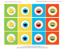 Sesame Street Bedroom Decor Free Sesame Street Printables Party Circles Characters