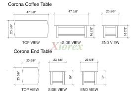 standard side table height awesome of wonderful coffee size on best for 29