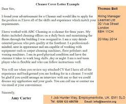 Cv For Cleaning Job Application Letter For The Post Of A Cleaner In An Office