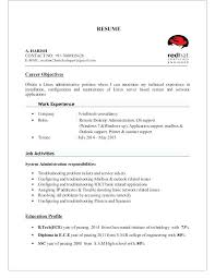 Sample Resume For System Administrator Best of Linux Resume Format System Administrator Sample Admin How To Write A