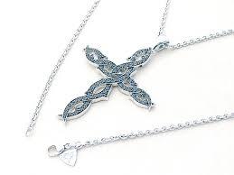stephen webster cross motif diamond necklace k18wg white gold stephen webster