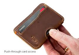 slim wallet for credit cards leather