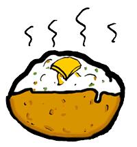 baked potato clip art.  Clip Baked Potato Bar Clipart 94996 With Clip Art T