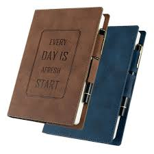 details about a5 leather cover vintage retro journal notebook lined paper diary planner