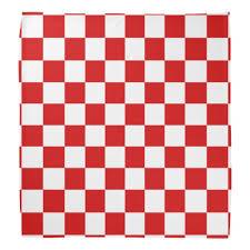 Checker Pattern Mesmerizing Red And White Checker Pattern Bandana Zazzle