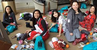 holiday service project brings gifts to temple square missionaries