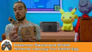 Pokemon Sword and Shield] Nintendo Labo Joy-Con Easter Egg - YouTube