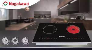 TRẢ GÓP 0% - Freeship - Bếp Âm Điện Từ - Hồng Ngoại Nagakawa NAG1251 (73  cm) mặt kính chịu nhiệt phím bấm cảm ứng hẹn giờ khóa an toàn - Hàng