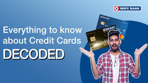 Credit cards have become the norm globally, with almost every individual having at least one or in some cases, multiple credit cards to better manage their income and expenses. 5 Things You Need To Know About Credit Cards Hdfc Bank