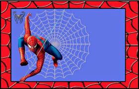 spiderman birthday frame 3