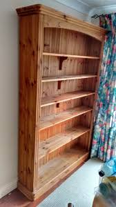 real wood shelving unit 8ft approx tall 6 shelves