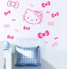 hello kitty bedroom wall stickers - The Hello Kitty Wall Decor for the  Girls  Home Design Studio