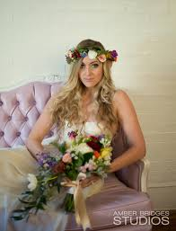 bohemian bride flower crown special day bouquet cincinnati weddings northern cky weddings