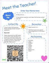 Meet The Teacher Letter Templates Meet The Teacher Template With Seesaw Printable Welcome Note