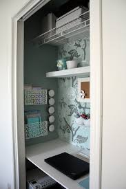 office in closet. IHeart Organizing: August Featured Space: Bedroom - Conquering Closets {part 3} Office In Closet