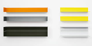 wall shelf made of powder coated aluminum profile as single or double elements with or without side part dimensions cm 100 wide x 26 deep x 16 high
