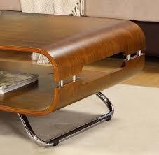 curve walnut coffee table jf302