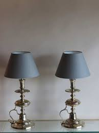 antiques atlas pair of silver plated bedside table lamps silver with silver bedside table lamps