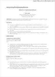 Bookkeeping Resume Objective Bookkeeping Resumes Entry Level Custom Bookkeeper Resume