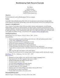 Bookkeeper Resume Sample Free Resume Example And Writing Download