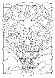 Small Picture Hot air balloon adult free printable colouring page Hot air