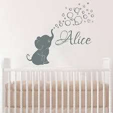 elephant baby girls custom name wall