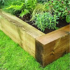 garden design using sleepers. wickes jumbo garden sleeper 125 x 250mm 18m light green design using sleepers