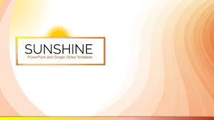 google templates sunshine free powerpoint presentation google slides