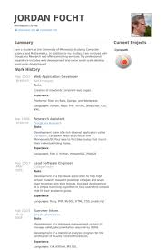 Web Application Developer Resume Samples Visualcv Resume Samples