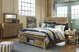Ashley Furniture B775 Sommerford - Modern Queen King Panel Bed Frame ...