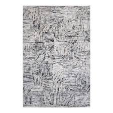 bold charcoal gray ivory geometric pattern area rug 9 x 12 tribal black white for