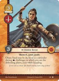 Sand Card Obara Sand Core Set A Game Of Thrones 2nd Edition A Game Of
