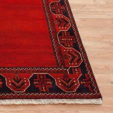 100 wool red plain afghan kundoz rug akp019000 195x148 handknotted in afghanistan with a 5mm