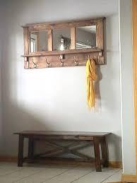 Mirror Coat Rack DIY Pallet Mirrored Coat Rack 49