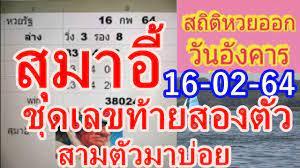 เลขเด็ด สุมาอี้ งวดนี้ 16/02/64 สถิติเลขออกบ่อย วันอังคาร  แนวทางสลากกินแบ่งรัฐบาลไทย - YouTube