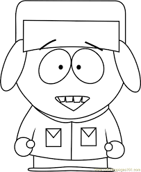 Kyle Broflovski From South Park Coloring Page Free South Park