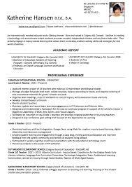 Grade Resume Resume Ms K Hansen 19