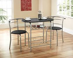 Compact Dining Set Black Dining Table Chairs Apartment Kitchen Flat  Students HMOs
