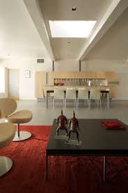 cool living rooms supplied with skylight performs bright visualization red carpet dark table ideas living